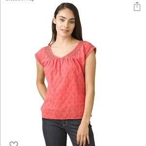 Prana Women's embroidered Blossom Top